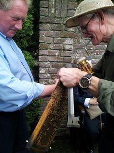 Bijen aaien www.imkerij-immenhof.nl