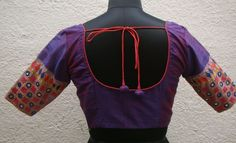 Magenta Kutch work Readymade blouse from house of taamara