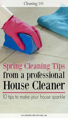 'Top Ten Spring Cleaning Tips From A Professional Cleaner...!' (via A Debt Free Stress Free Life)