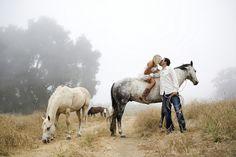 Love this! rope horse bride