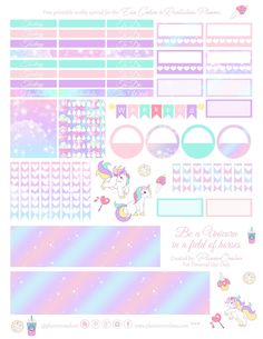 Unicorns!!   Okay, so I made so many different versions of this kit I've lost count. I kept changing the colors and the clip art. Somet...