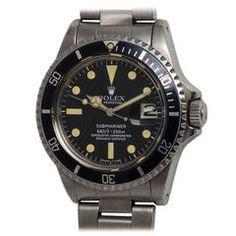 Rolex Stainless Steel Submariner Wristwatch Ref 1680 circa 1977