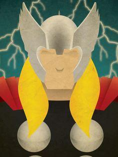 Minimal Heroes Thor by Jeff Janelle Art Design on Etsy Hero Arts, Digital Illustration, Superhero Birthday Party, Comic Art, Retro, Minimalism, Geek Stuff, Avengers, Sketches