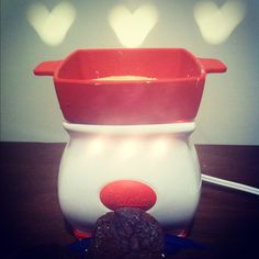 #gottavelata with white Belgian chocolate and brownies!! - Love that Velata and Scentsy warmers make hearts on the wall.