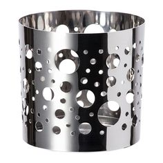 IKEA - VACKERT, Decoration for candle in glass, The shiny metal decorative holder has a pattern that creates an exciting accent in the room.The decoration can also be used with tealights. $1.99 ea