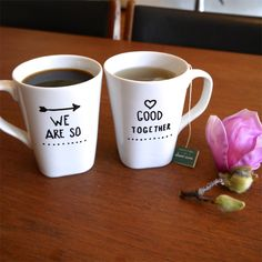 Romantic Sharpie Mugs: The morning cup of coffee has an exhilaration about it which the cheering influence of the afternoon or evening cup of tea cannot be expected to reproduce ~. Diy Becher, Coffee Cups, Tea Cups, Coffee Tumbler, Couple Mugs, Couples Coffee Mugs, Sharpie Art, Sharpies, Sharpie Crafts