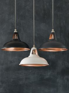 Small Kitchen Lighting Ideas Pictures for Low Ceilings Copper Fusion Pendant Lights Small Kitchen Lighting, Kitchen Lighting Fixtures, Kitchen Pendant Lighting, Kitchen Pendants, Copper Lights Kitchen, Copper Lighting, Industrial Pendant Lights, Modern Lighting, Lighting Ideas