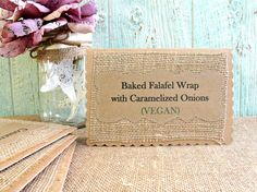 Rustic Menu Table Cards, Label Wedding Reception Shower Buffet Food, Set of 10 Custom Colors Available on Etsy, $50.00