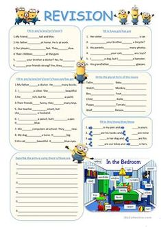 Revision (To be, have got, plurals, demonstratives, there is, there...
