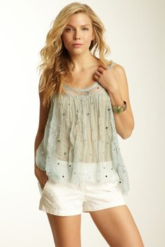 Free People Embellished Swing Cami