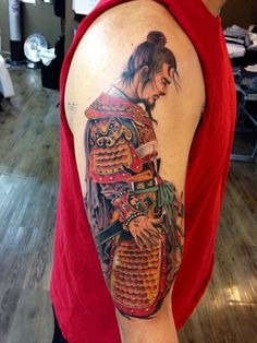 Liu Bei warlord tattoo by Fernando (Chronic Ink Studios at Toronto, Canada)