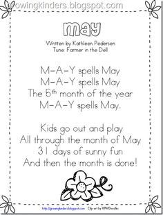 This would be great for one calendar day a week focusing on month This would be great for one calendar day a week focusing on month The post This would be great for one calendar day a week focusing on month appeared first on Pink Unicorn. Kindergarten Poems, Kindergarten Calendar, Preschool Calendar, Calendar Songs, Calendar Time, Calendar Ideas, Months Song, Months In A Year, Preschool Music