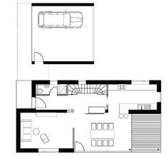 Wohnhaus in Langenargen - Grundriss EG - Sonnenschutz - Wohnen - baunetzwissen.de