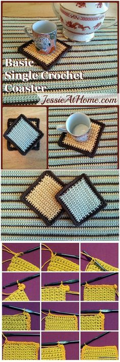 Free crochet coaster patterns look very beautiful and cute with the soft yarn and the different colors of the threads