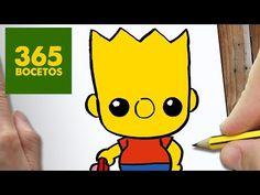 COMO DIBUJAR UN BART SIMPSONKAWAII PASO A PASO - Dibujos kawaii faciles - How to draw a Bart - YouTube