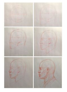 Drawing a man's head in profile 2 by Coung Nguyen