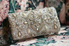 Beaded Clutch | A Winter Valentine's Day Wedding at Running Deer Golf Club