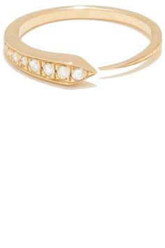 """Tilda Biehn """"Comet"""" ring in 14k yellow gold with .28ct white diamonds. $1,910, tildabiehn.com   - HarpersBAZAAR.com"""