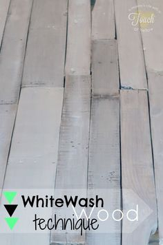 How to Whitewash Wood {Tutorial}