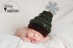 Christmas Tree Hat Knitting Pattern  7 Sizes  by MelodysMakings, $4.00