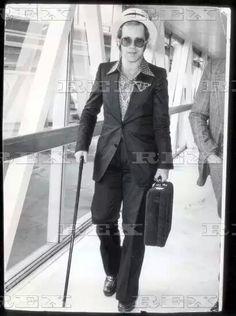 Elton John Pictured At London 18 Jun 1974