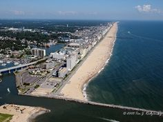 Virginia Beach from Rudee Inlet - North - Virginia Beach, Virginia