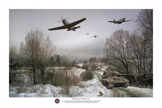 "Pacific Victory Roll - Aviation Art - ""Busting the Bulge"" by Mark Donoghue - 78th Fighter Group P-51 Mustangs."