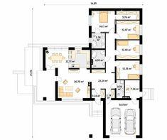 Aksamit 8 projekt domu - Jesteśmy AUTOREM - DOMY w Stylu Architect House, Tiny House, House Plans, Villa, Floor Plans, House Design, Flooring, How To Plan, Nice