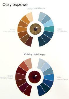 Analiza kolorystyczna. Jakie kolory nam pasują? | Kameralna Color Harmony, Color Balance, Winter Colors, Warm Colors, Beauty Secrets, Diy Beauty, Eye Color, Hair Color, Makeup Tips