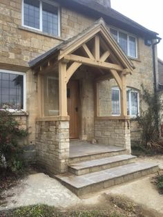 A full build oak framed porch in Gloucestershire.