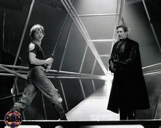 Behind the scenes on lightsaber fight - who is in the Vader suit? was he the stunt (sword) coordinator?