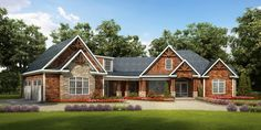 Plan 36029DK: Angled Craftsman House Plan