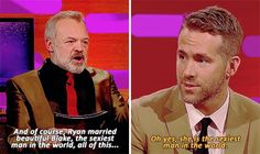 "When Ryan Reynolds discussed his marriage to Blake Lively. | 23 Of The Best Things To Ever Happen On ""The Graham Norton Show"""