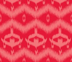 Ikat Red fabric by curious_nook on Spoonflower - custom fabric