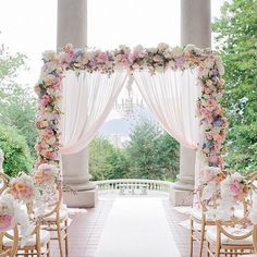 Want the perfect wedding arch for your day and want inspiration? Browse our wedding arch ideas for indoor wedding arches and outdoor wedding arches. Wedding Themes, Wedding Colors, Wedding Venues, Wedding Ideas, Wedding Backdrops, Wedding Ceremonies, Wedding Canopy, Pastel Wedding Theme, Pastel Weddings