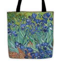 Van gogh irises tote bag
