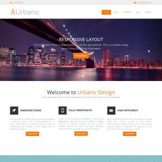Urbanic is free HTML5 website template from templatemo. This one-page layout is…