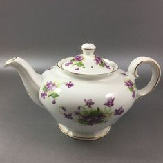 Purple Pansies Teapot Royal Stuart Spencer Stevenson #RoyalStuart