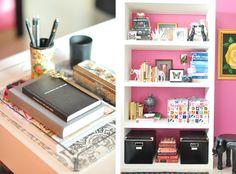 full length book shelf - makes the room bigger! Caitlin Wilson