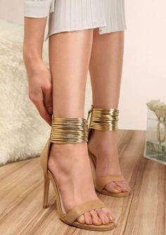 womens black and gold booties High Heels Stilettos, Stiletto Heels, Shoes Heels, Summer Heels, Vegan Shoes, Fashion Heels, Womens High Heels, Women Sandals, Ladies Sandals