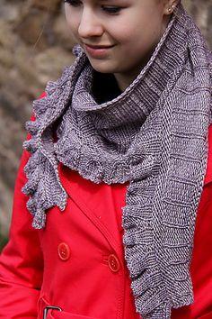 Amortentia pattern by Jennifer Dassau. malabrigo Silky, Madre Perla color