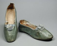 Pair of Woman's Slippers, Probably England, circa 1820, LACMA Collections Online