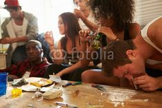 Gang Of Young People Taking Drugs