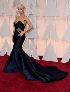 Rita Ora In custom-made Marchesa