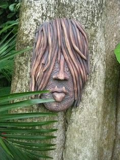 Hippy Chick Ceramic Mask by Uturn on Etsy, $55.00
