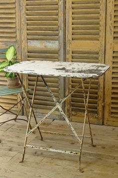 French vintage folding garden table