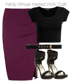 Arrow - Felicity Smoak Inspired Work Outfit by staystronng on Polyvore featuring polyvore fashion style Lipsy H&M Arrow Work felicitysmoak