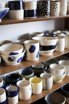 Today Stacey is interviewing Rachel Howe of Small Spells- We love her ceramics!