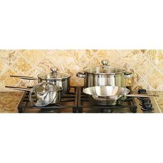 Cook Pro 7-Piece 18/10 Stainless Steel Cookware Set