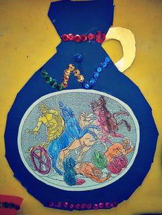 Μέσα σ'ένα σεντουκάκι...: Ελληνική μυθολογία(συνέχεια) Θεός Ποσειδώνας και Τιτανομαχία
